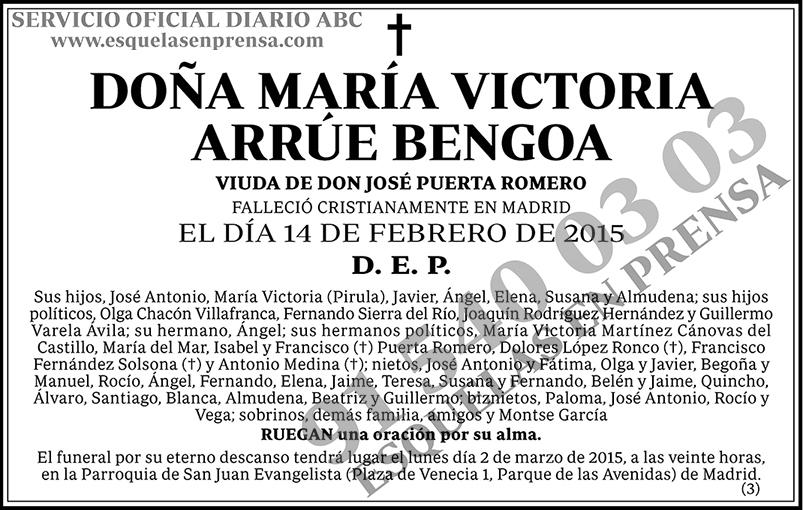 María Victoria Arrúe Bengoa